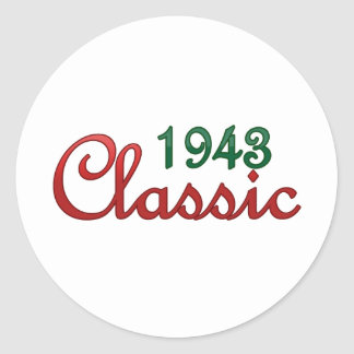 1943 CLASSIC ROUND STICKER