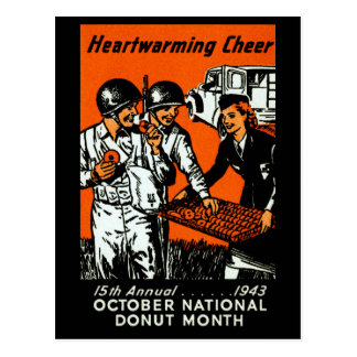 1943 Donut Poster Post Card