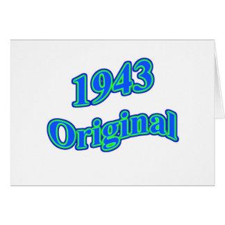 1943 Original Blue Green Card