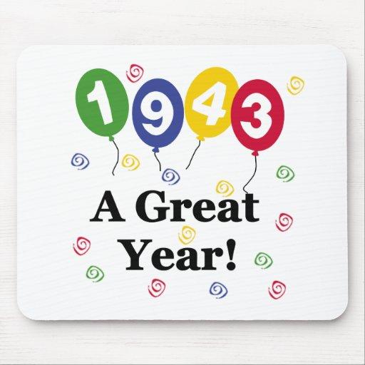 1943 un cumpleaños del gran año tapete de ratón