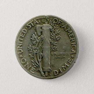 1943 US Mercury dime reverse button
