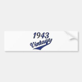 1943 Vintage Bumper Sticker