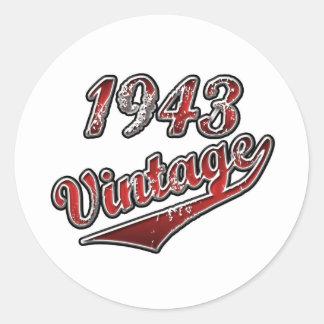 1943 Vintage Classic Round Sticker
