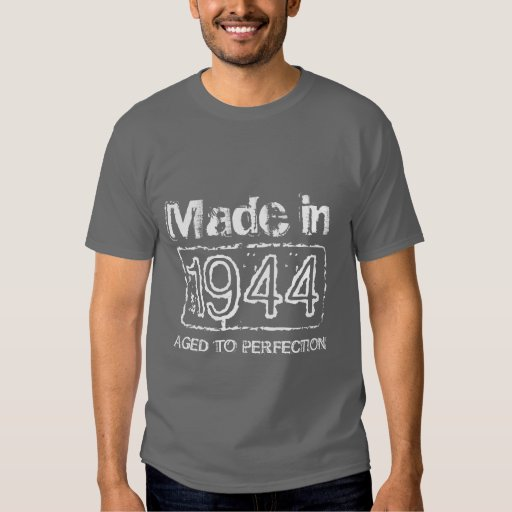 1944 Aged to perfection t shirt for men's Birthday
