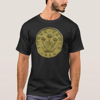 1944 British three pence t-shirt