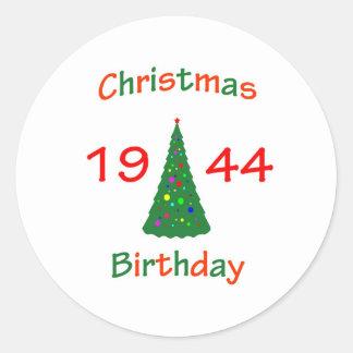 1944 Christmas Birthday Sticker