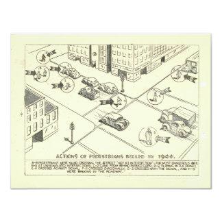 """1944 cómo mataron a los peatones invitación 4.25"""" x 5.5"""""""