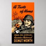 1944 Donut Poster