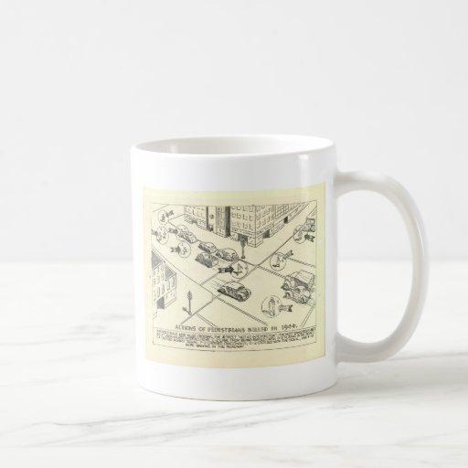 1944 How Pedestrians Were Killed Classic White Coffee Mug