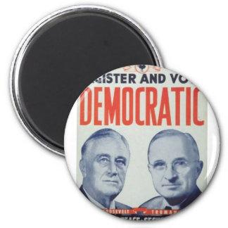 1944 Roosevelt - Truman 2 Inch Round Magnet