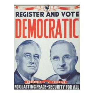 1944 Roosevelt - Truman Flyer