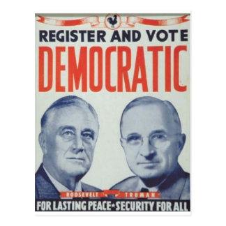 1944 Roosevelt - Truman Postcard