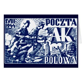 1944 Warsaw Uprising Greeting Card