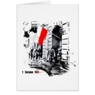 1944 Warsaw Uprising Poland Greeting Card