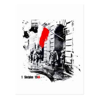 1944 Warsaw Uprising Poland Postcard