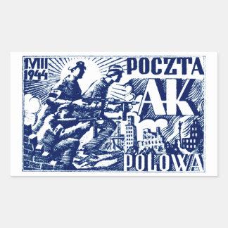 1944 Warsaw Uprising Rectangular Sticker