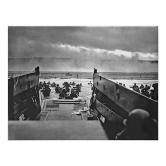 1944 WW2 Invasion of Normandy Omaha Beach Print
