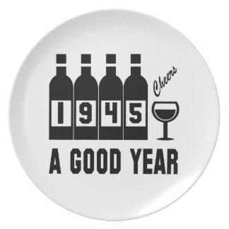 1945 A Good Year Dinner Plate