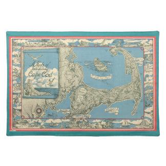 1945 Cape Cod Map Placemat
