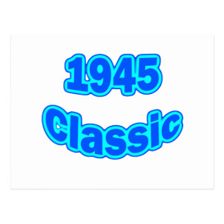 1945 Classic Blue Postcard