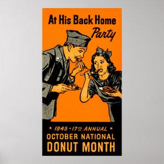 1945 Donut Poster