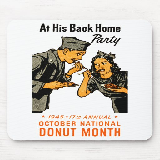 1945 Donut Poster Mouse Pad