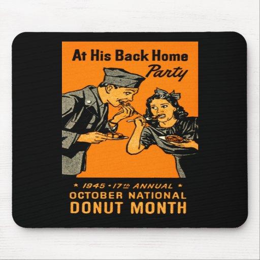 1945 Donut Poster Mousepad