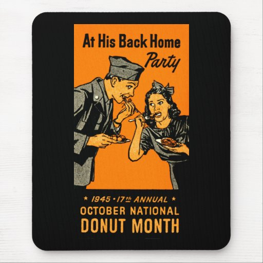 1945 Donut Poster Mousepad