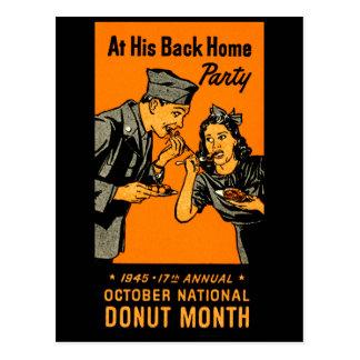 1945 Donut Poster Postcards