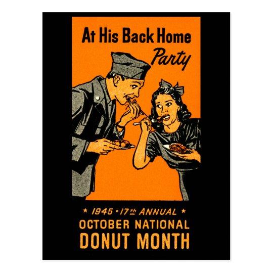 1945 Donut Poster Postcard