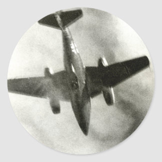 1945 Final Flight of ME-262 Classic Round Sticker