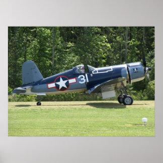 1945 Goodyear FG-1D Corsair. Poster