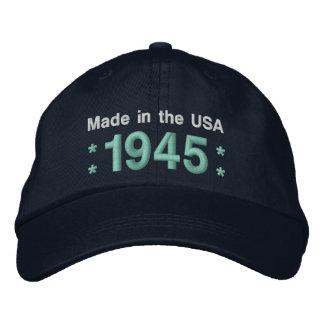 1945 o cuaesquiera NEGROS y TRULLOS del cumpleaños Gorras De Béisbol Bordadas