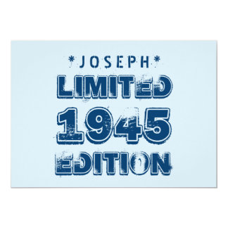 1945 or Any Year Birthday Limited Edition 70th V3Z Card