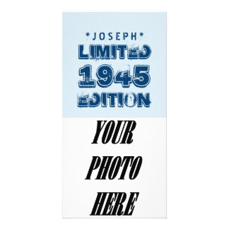 1945 or Any Year Birthday Limited Edition 70th V3Z Photo Card