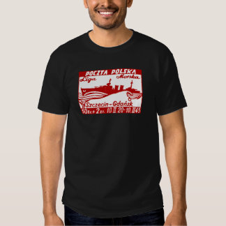 1945 Polish Navy Ship Dragon Shirt
