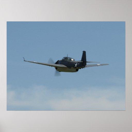 """1945 TBM-3E """"Avenger"""". Poster"""