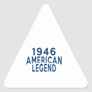 1946 diseños del cumpleaños de la leyenda del pegatina triangular