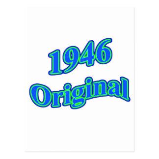 1946 Original Blue Green Postcard