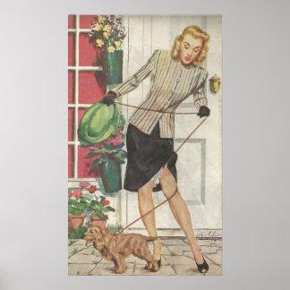 1946 Panty Hose Advertisement Poster