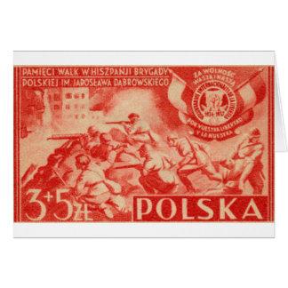 1946 Polish Volunteers in Spain Cards