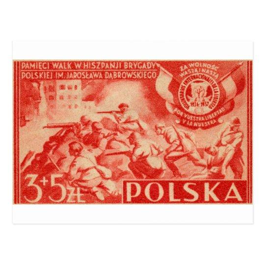 1946 Polish Volunteers in Spain Postcard