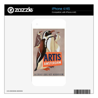 1947 Artis Zoo Amsterdam Penguins Poster iPhone 4S Skin
