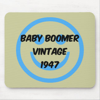 1947 baby boomer mouse pad