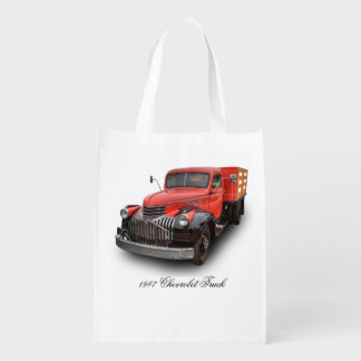 1947 CHEVROLET STAKE TRUCK REUSABLE GROCERY BAGS