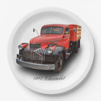 1947 CHEVROLET STAKE TRUCK 9 INCH PAPER PLATE