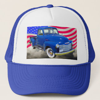1947 Chevrolet Thriftmaster Pickup With US Flag Trucker Hat