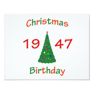 1947 Christmas Birthday Card
