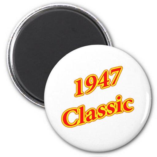 1947 Classic Red Fridge Magnet