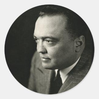 1947 FBI Director J. Edgar Hoover Classic Round Sticker